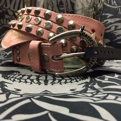 3 Strikes Dusty Rose Belt Size Medium. Check it out! Price: $39 Size: M