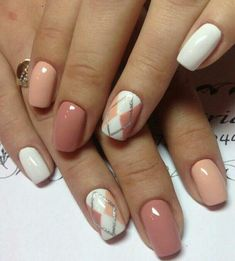 54 Amazing Gel Polish Nail Ideas To Try Now Gel nails are unique and very different from the acrylics you may be used to. Using gel nails is as close to using your natural nail as you could. It actually resembles the natural nail; Love Nails, Pink Nails, Gel Nails, Nail Polish, Argyle Nails, Plaid Nails, Plaid Nail Art, Stylish Nails, Trendy Nails