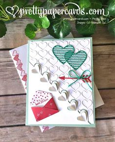Valentine Card using Sealed With Love #stampinup #sealedwithlove #valentinecard #handmadecard #hearts #valentinecard #prettypapercards