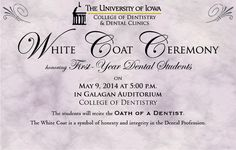 White Coat Ceremony Invitation - Coat Nj