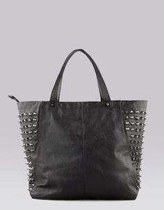 Handbag with side studs