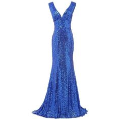 LanierWedding Gold Sequins Mermaid V neck Bridesmaid Dresses Plus Size... ($73) ❤ liked on Polyvore featuring dresses, blue sequin dress, sequin cocktail dresses, gold bridesmaid dresses, prom dresses and blue cocktail dresses
