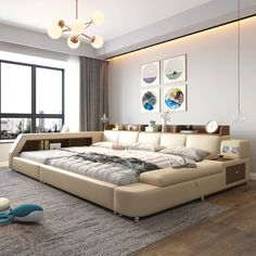 Modern Master Bedroom, Bedroom Bed Design, Home Room Design, Smart Bed, Dressing Room Design, Woman Bedroom, House Beds, Awesome Bedrooms, Dream Rooms