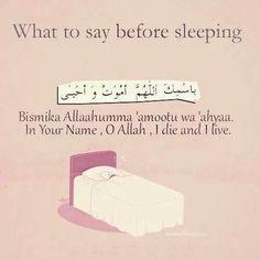 Dua before sleeping