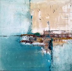 "Saatchi Online Artist: elwira pioro; Acrylic 2013 Painting """"MEET ME BY THE SEA """""
