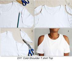 DIY: Cold-Shoulder T.Shirt. | SkyNotFancy