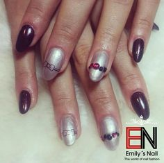 Silber Nails, Beauty, Silver, Finger Nails, Beleza, Ongles, Nail, Cosmetology, Manicures
