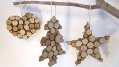 Vos suspensions avec médaillons de bois nature