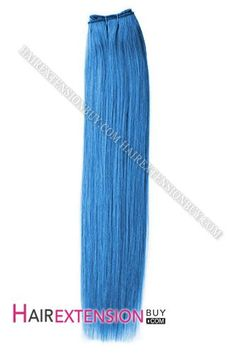 "10"" #Blue Silky Straight 100% Remy Human Hair"