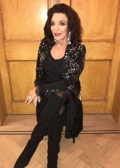 Joan Collins Dec 2018