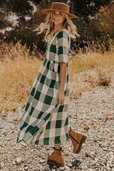 This ROOLEE favorite features a timeless buffalo plaid that is bold, sophisticated and the perfect style for every season! Mommy and me sizing available. Perfect for summer. Modest Dresses, Modest Outfits, Modest Fashion, Nice Dresses, Summer Dresses, Church Dresses, Maternity Fashion, Casual Outfits, Fashion Outfits