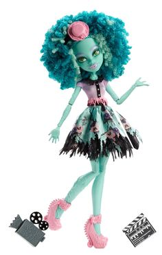 Amazon.com: Monster High Frights, Camera, Action! Honey Swamp Doll: Toys & Games
