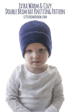 Extra Warm and Cozy Double Brim Hat Knitting Pattern 6f76134ca1c8