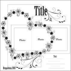 new flower - Scrapbook.com scrapbook page layout sketch