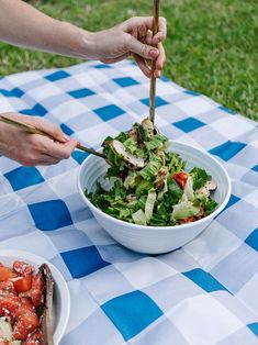 Summer Salads: Watermelon Mint Salad   Rosemary Chicken Salad Recipes from The Effortless Chic
