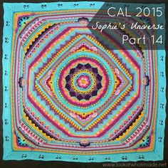I saw a pic of this done all in one colour and it was Spectacular!!  Sophie's Universe CAL 2015 - Look At What I Made