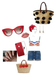 """""""La piscina"""" by maria-alexandra-iordan on Polyvore featuring Dolce&Gabbana, Frame, Thierry Lasry, Soeur Du Maroc, Rinati Lakel, Laura Lombardi and Lime Crime"""