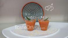 Γκασπάτσο, δροσερή σούπα ντομάτας #tomatoes #juice #spain #recipes #healthy #tastedriver Planter Pots, Recipes, Recipies, Recipe, Plant Pots