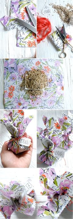 DIY Wild Flower Seed Wedding Favors :)   Buy your own material and hand tie with a ribbon :)