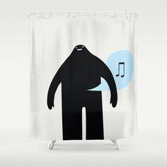 musical monster  Shower Curtain by simon oxley idokungfoo.com - $68.00