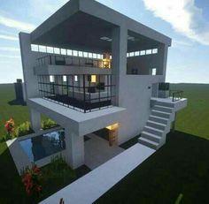 Minecraft Haus Modern Minecraft Pinterest Villa Minecraft - Minecraft hauser ideen zum nachbauen