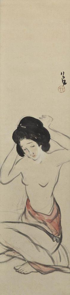 .:. Takehisa Yumeji, 1884-1934 竹久夢二 Nude Woman (Rafu 裸婦)