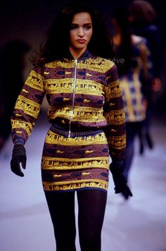 ALAÏA,FALL/WINTER 1990 Azzedine Alaia, Christmas Sweaters, Fall Winter, Wonder Woman, Superhero, Runway, Artsy, Google Search, Women
