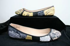 Ouija Board Flats Ouija Shoes Halloween Flats by LeadFootLucy