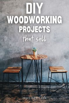 Find the best ideas to get started selling your very own woodworking products. This list has awesome ideas including wall decor, furniture and more. The secret to really selling these items well online is... Diy Projects Using Wood, Small Wood Projects, Diy Wood Projects, Wood Crafts, Woodworking Items That Sell, Cool Woodworking Projects, Diy Woodworking, Repurposed Furniture, Wood Furniture