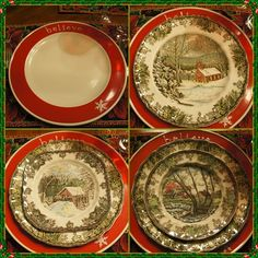 Christmas China, Christmas Dishes, Family Christmas, All Things Christmas, Vintage Christmas, Christmas Table Settings, Christmas Tablescapes, Christmas Decorations, Table Decorations