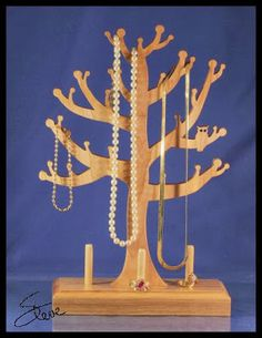 Scrollsaw Workshop: Jewelry Tree Scroll Saw Pattern. - would be great for the nature table