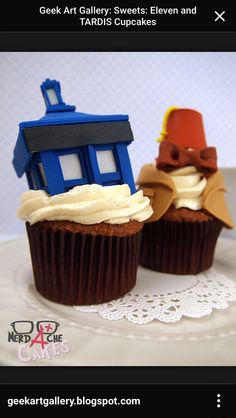 Yummy doctor who cupcakes