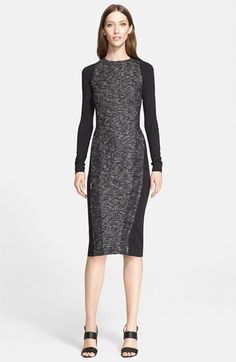 Donna Karan New York Tweed & Jersey Dress available at #Nordstrom