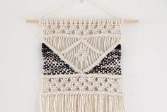 Medium Macrame Wall Hanging with Weave detail / Boho by tentliving