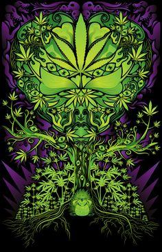 Marijuana love tree poster-- awesome.