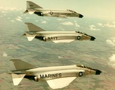 F-4 Phantoms - Air Force, Navy & Marines