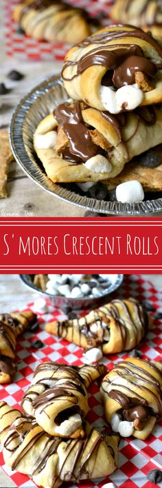 S'mores Crescent Rolls - all the flavors of s'mores rolled up in a crescent roll. Breakfast, anyone??