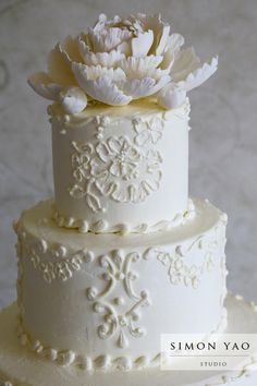 simonyao.com  Columbus Ohio Wedding Photographer  #weddingcake  Sue Larson, Le  Gateau