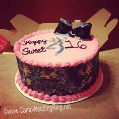 My daughter wants a camo sweet 16 birthday cake. Birthday Surprise Kids, 17 Birthday Cake, Sweet 16 Birthday, 16th Birthday, Birthday Ideas, Country Birthday, Birthday Parties, Happy Birthday, Sweet 16 Cakes