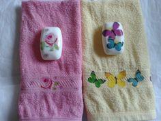 Conjunto de Toalla de mano con jabon- toalla de mano con decoupage- Visita mi pagina en Facebook (argentina)- https://www.facebook.com/enamorartecreacionesdecoupage
