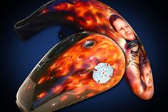 Motorcycle Airbrush Art - Firefighter - Bevin Finlay