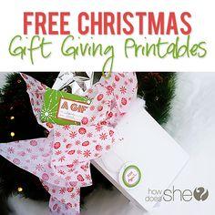 Free Christmas Gift Giving Printables