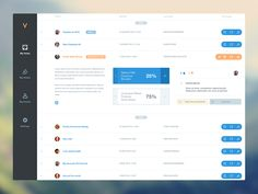 V app dashboard web app for same client as previous shot :) http://v-app.io/landing Enjoy this! Christine