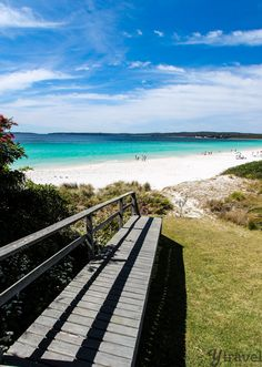 """Hyams Beach, New South Wales - click inside to learn about the """"Best of Australia"""" Melbourne, Sydney, Great Barrier Reef, Cairns, Vacation Destinations, Dream Vacations, Tasmania, Places To Travel, Places To See"""