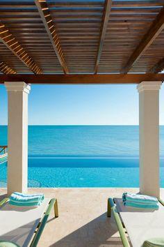 Tropical beach house on Turks and Caicos Islands