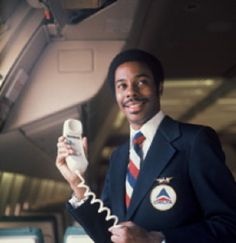 """Delta Air Lines uniform, 1973-75. Look at the Delta """"patch""""! And look in the background....on the L10!"""