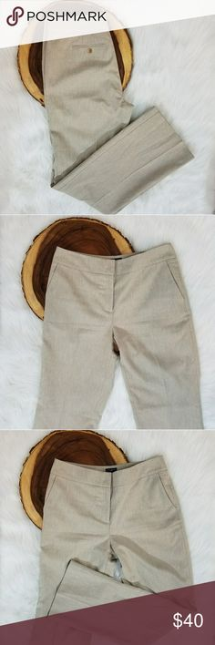 Ann Taylor Signature Beige Slacks Ann Taylor Signature Beige Slacks Size 8 Side front pockets & 2 back button pockets  Previously loved! Great condition! Ann Taylor Pants