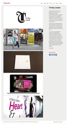 Website design | Project page portfolio ideas | http://dsemotion.com/work/trinity-leeds/