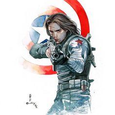 Winter Soldier by Garrie Gastonny #GarrieGastonny #Bucky #BuckyBarnes #WinterSoldier #KGB #Avengers #YoungAllies #KidCommandos #AllWinnersSquad #TheInvaders
