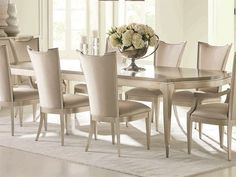 Shop this caracole classic moonlit sand / soft silver leaf x rectangular dining table with extension from our top selling Caracole dining room tables. LuxeDecor is your premier online showroom for dining room furniture and high-end home decor. Luxury Dining Tables, Luxury Dining Room, Dining Room Sets, Dining Room Design, Dining Room Furniture, Dining Room Table, Dining Chairs, Unique Dining Tables, Classic Dining Room
